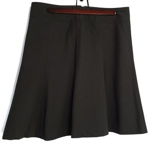 A Line Pin Stripe Skirt Black